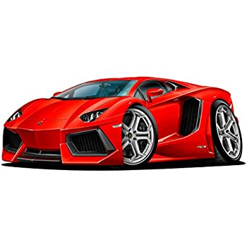2015 Lamborghini Aventador WALL DECAL 2ft Long Sport Car Graphic Sticker  Man Cave Garage Boys Room