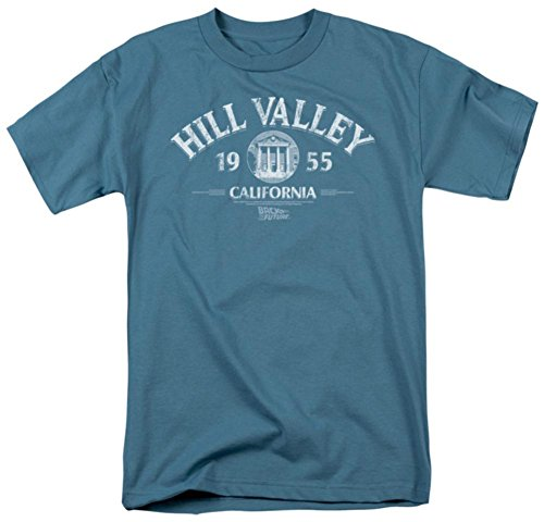 Hill Valley 1955 -- Back To The Future Adult T-Shirt, - Valley Hills