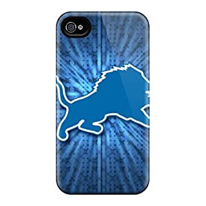 Iphone 4/4s WFJ1016pxfL Allow Personal Design Stylish Detroit Lions Skin Best Cell-phone Hard Cover -DannyLCHEUNG