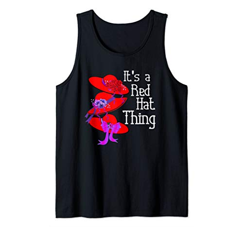 (Red Hat Society It's a Red Hat Thing Vintage Style  Tank Top)