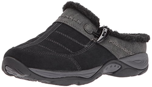 Easy Spirit Suede Clogs (Easy Spirit Women's Efrost Mule, Black/Navy Suede, 6 W US)