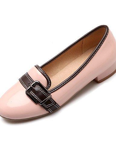 Rose-us6.5-7   eu37   uk4.5-5   cn37 PDX femme Chaussures Talon Plat Bout Rond appartements décontracté Noir rose rouge beige
