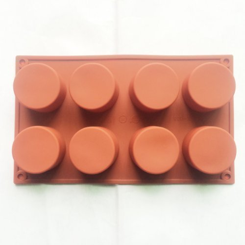 8 cell CYLINDER TUBE Mini Wedding Cake Candle Wax Soap Silicone Bakeware mold Mould Chocolate Mold 29.717.43.7cm
