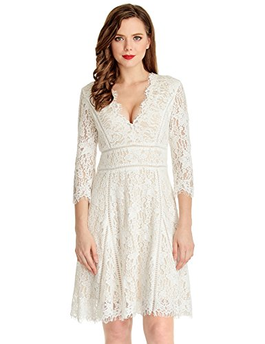 LookbookStore Womens White Cocktail Sleeve