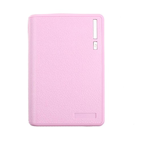 Yoyorule for iphone Smartphone USB 5V 2A 18650 Power Bank Battery Box Charger (Pink)