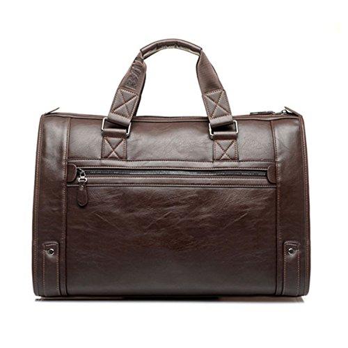 Amazon.com | gracosy Vintage Briefcase, Leather Business Bag Mens Large Working Bag Laptop Bag Teacher Bag for Travel Office Black-Large 17.7 11.8 ...