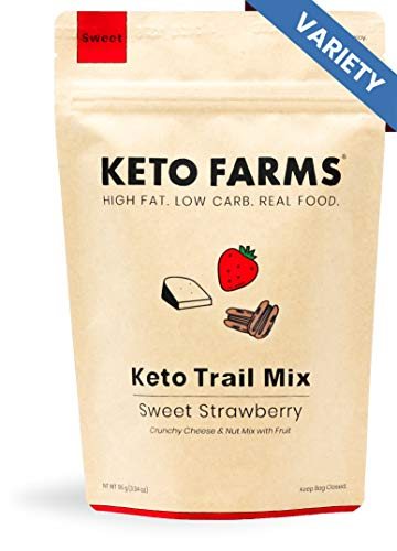 Keto Trail Mix, Crunchy Cheese Mix, Keto Friendly Snacks by Keto Farms (3g Net Carb) [Variety Pack] 3.3 Ounce, 3 Count | Real Keto Food, High Fat Low Carb Snacks