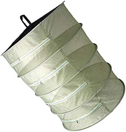 CUTICATE Trockennetz Trockengestell zum Aufhängen, Faltbar Hängenetz zum Trocknen, Kräutern Trocknungsnetz, mit Reißverschluss, S-Haken und Tasche - Grün, 4-Schichten