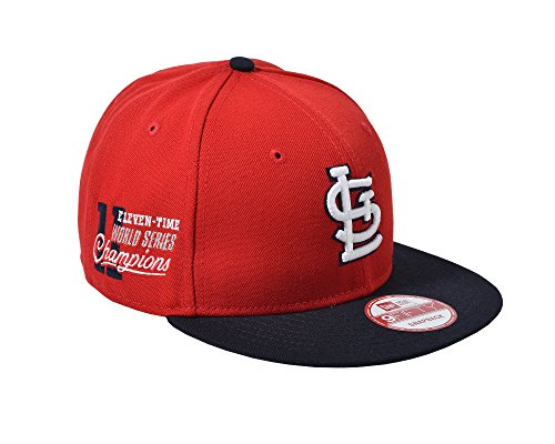 New Era MLB St. Louis Cardinals Star Trim 9Fifty Snapback Cap, One Size, Red