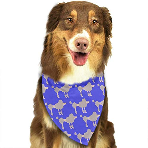 SYWY Washable and Long Lasting Bandanas Funny Poodle Pet Dog Cat Bandanas Triangle Bibs Pet Scarf Dog Neckerchief Headkerchief Pet Accessories