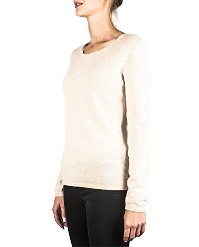 A Pullover xs Cachemire Washed Cash Maglione ch xxl Girocollo Da Sweater Ecru mere Donna 100 PqExwX