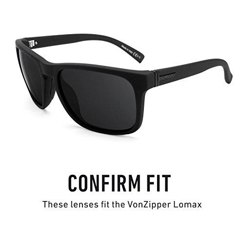 Elite repuesto Sigiloso Polarizados Lentes — Lomax Von múltiples de para Opciones Negro Revant Zipper qPw7Sq