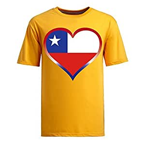Brasil 2014 FIFA World Cup Theme Short Sleeve T-shirt,Football Background Mens Cotton shirts for Fans yellow
