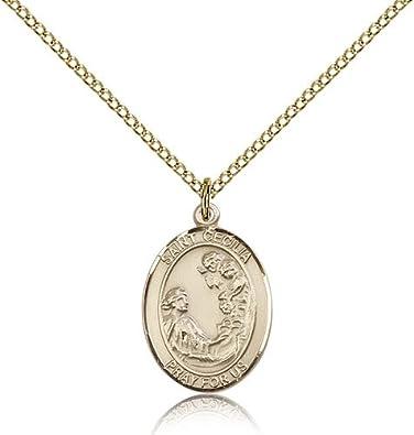 Amazon saint cecilia pendants gold plated st cecilia pendant saint cecilia pendants gold plated st cecilia pendant including 18 inch necklace aloadofball Gallery