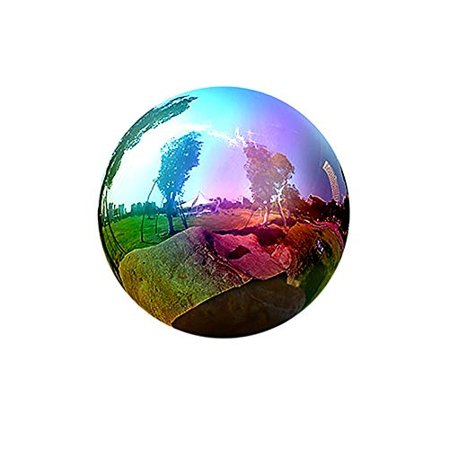 Gazing Globe - Rainbow Stainless Steel Shiny Gazing Balls for Gardens and Ponds
