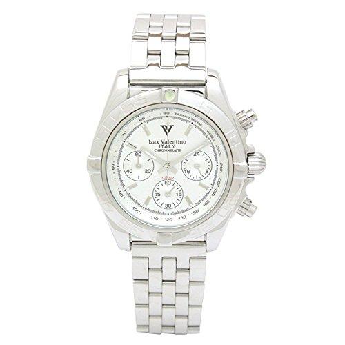 Izax Valentino watch rotating bezel luminous index All stainless steel chronograph IVG-8000-6 - Watch Valentino Mens