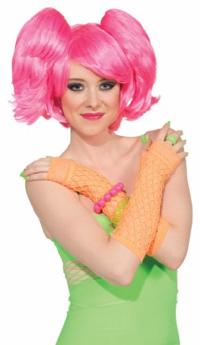 Pony Sexy Costumes Pink (Forum Club Candy 3-Piece Short Wig and Ponytails Set, Pink, One)