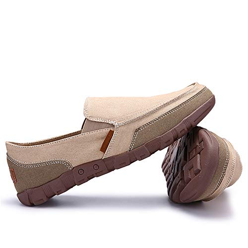 Classici Fashion Outdoor On Giallo Walking durevoli Uomo Casual Slip Traspiranti di Scarpe Mocassini Flat LIEBE721 Tela x0wvqPCH