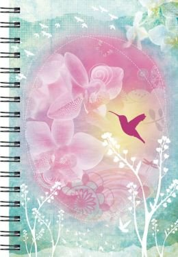 Wire-O Journal Hummingbird & Flowers - Medium (Lined Both Sides)