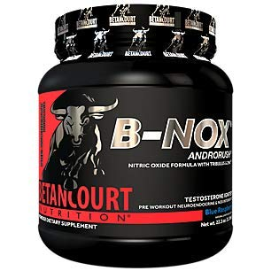 BNOX Androrush PreWorkout Nitric Oxide Testosterone BlendBlue Raspberry (35 Servings)