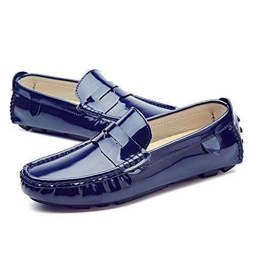 Scarpe pelle traspirante Drive Mocassini uomo Color EU confortevole barca Uomo Blu Dimensione 39 shoes Xiaojuan da da in e Pelle verniciata Nero Mocassini Casual xfqZxvwF7