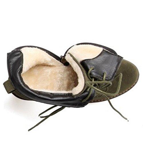 Boots H Army RAZAMAZA Women Green Zipper ZnR4PHxq