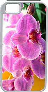 Lmf DIY phone caseRikki KnightTM Orchid Flower White Tough-It Case Cover for iPhone 5 & 5s(Double Layer case with Silicone Protection)Lmf DIY phone case