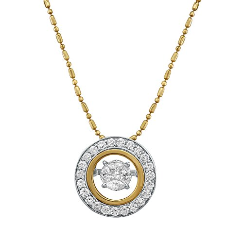 Olivia Paris Dancing Diamond Necklace Set in 14k Two Tone Gold 3/4 Carats ctw (H-I, I1), 18