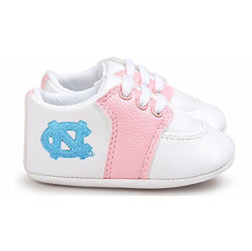 (Future Tailgater North Carolina UNC Tar Heels Pre-Walker Baby Shoes - Pink Trim)