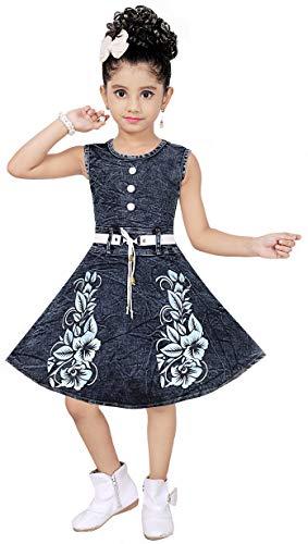 ASTRIB Girls' Knee Length Dress