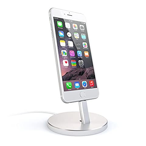 Satechi Aluminum Desktop Charging Stand for iPhone 5 / 5S / 5C / 6 / 6s / 6 Plus / 6s Plus / 7 / 7 Plus/ iPod touch 5G / iPod nano 7G (12 South Iphone 6 Plus Dock)