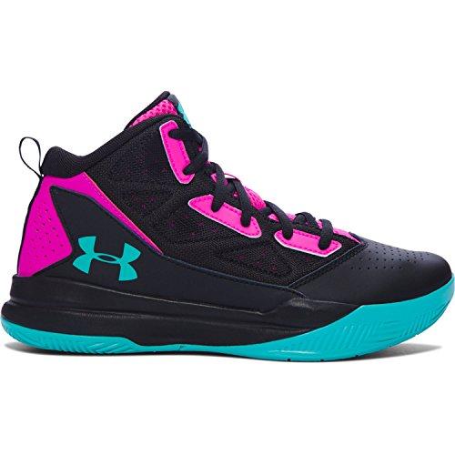 b431ac582ab Galleon - Under Armour Girl s Grade School Jet Basketball Shoes Black Lunar  Pink Nova Teal Size 4.5 M US