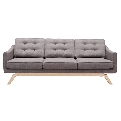 Modern Contemporary Sofa, Grey, Fabric