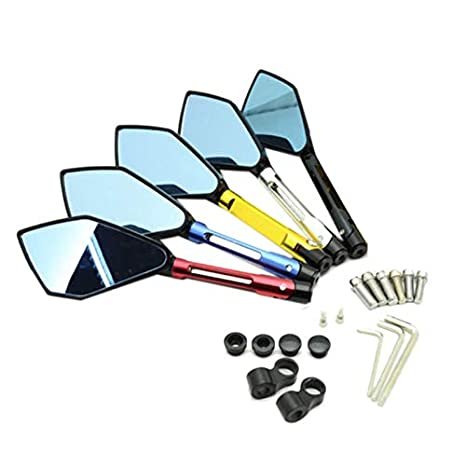 TOOGOO Motorcycle Cnc Aluminum Rearview Mirror Side Mirror Mirror Modification Accessories For Yamaha Sports Car Rizoma Motorcycle Accessories Black