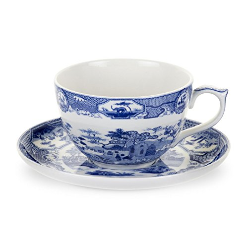 Spode Blue Room Gothic Castle Jumbo Cup and Saucer 0.56L ()