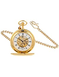 Charles-Hubert, Paris Gold-Plated Mechanical Pocket Watch (3556)
