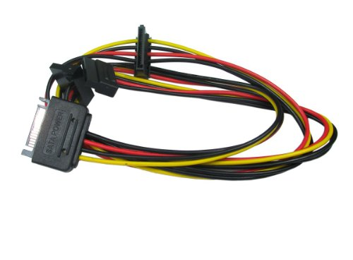 Kenable SATA Power Splitter 1 to 3 way Sata Adapter 15 pin t