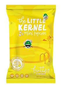 The Little Kernel Miniature Popcorn - Butter - Non GMO, Gluten Free, Whole Grain, Kosher, Popped in 100% Pure Olive Oil (Pack of 3)