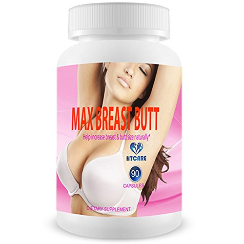 MAX BREAST BUTT - The World's TOP RATED Natural Breast Enlargement, Butt Enhancement Pills. Female Augmentation, Sex Booster, Menopause & Perimenopause Treatment That Works (No Damiana)- 90 Capsules (Best Treatment For Breast Enlargement)