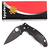 "Spyderco Manix 2 Lightweight Folding Knife with 3.37"" Black Blade"