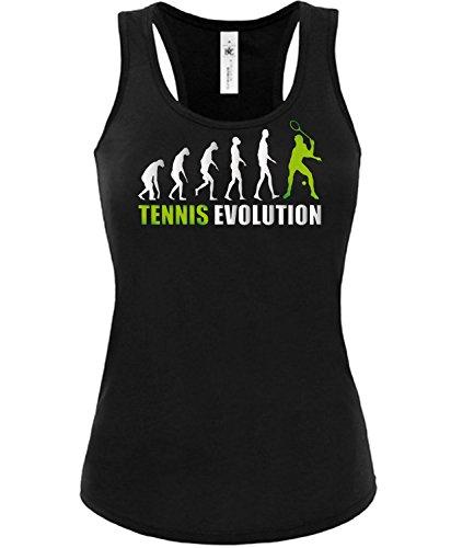 TENNIS EVOLUTION mujer camiseta Tamaño S to XXL varios colores S-XL Negro / verde