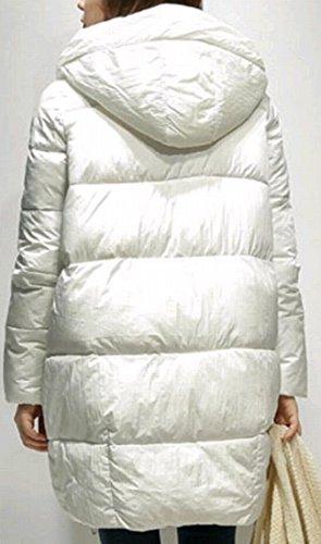 Coats amp;S M Big Sleeve Fashion Long White Women's Down Hooded amp;W Pocket ZvqZO