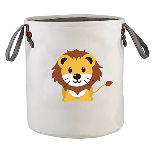 Cute Storage Baskets, Baby Hampers, Baby Laundry Basket, Laundry Hamper, Kids Storage Bin, Nursery Baskets, Animal Hamper, Storage Organizer Bins, Nursery Hamper Bin, Toy Storage - Lion Design