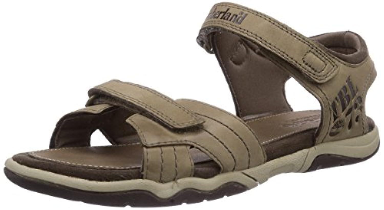 Timberland Oak Bluffs 2, Boys' Ankle-Strap Sandals, Brown (Dark Brown), 1 Child UK (33 EU)