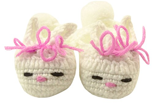 Wholesale Princess Handmade Crochet Bunny Slippers with Bows