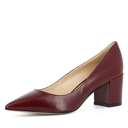 Evita Shoes Romina Damen Pumps Glattleder Bordeaux