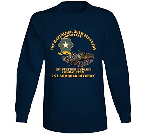 MEDIUM - Army - 1st Bn 36th Infantry - 1st Stryker Bde Cbt Tm - 1st Ar Div Long Sleeve - Navy ()