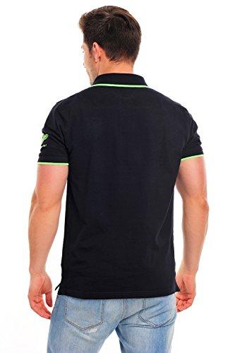 Geographical Norway - Poloshirt - Polohemd - Polo-Shirt - schwarz - kurzarm - Stickereien