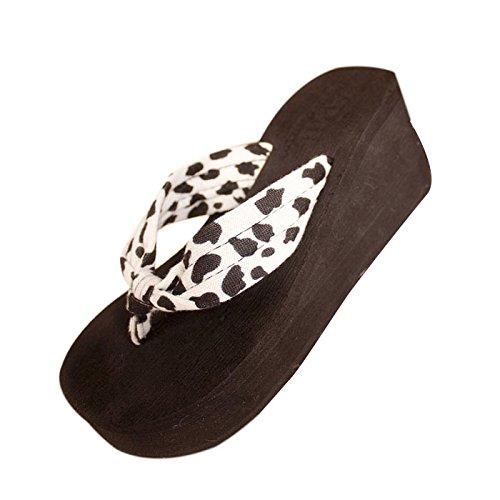 Amlaiworld Calzado de Mujer, Cuñas de La Plataforma Inicio Zapatillas Leopardo B