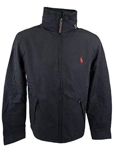 Polo Ralph Lauren Mens Perry Lined Winter Jacket (Medium, Black/Red - Ralph Online Polo Lauren Usa